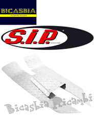 4112 TAPPETO SIP CENTRALE ALLUMINIO LUCIDATO VESPA 50 SPECIAL R L N MANDORLATO