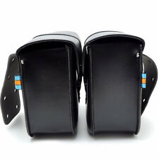 Dossy Mini Motorcycle PU Leather Saddle Bags Side Storage Tool Pouch Waterproof