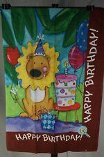 "Lion Happy Birthday Cake House Flag 28"" x 40"" T3"