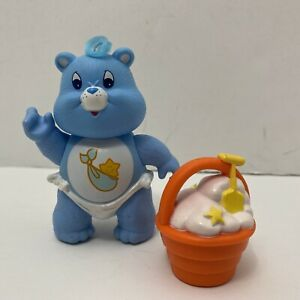 Vtg '80s Kenner Care Bears Poseable Baby Tugs Figure & Big Diggity Bucket NM