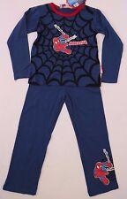 Marvel Spider-Man&Friends Kids Boys Blue 2-Piece Pajama Sleepwear Size 116 cm