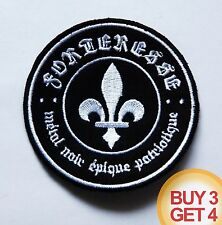 FORTERESSE PATCH BUY3 GET4,GRIS,MONARQUE,SOMBRES FORETS,BLACK METAL,HORNA,TAAKE