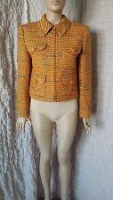Valentino Miss V vintage check tweed woven multi coloured zipped blazer size 44