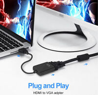 HDMI Male to VGA Female Video Cable 1080P HDMI-VGA Adapter PC HDTV  TV BOX