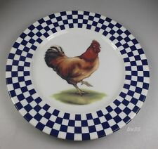 """WILLIAMS SONOMA ROOSTER set of 2 SALAD PLATES  8 1/4 """"- plate #3 - PERFECT"""