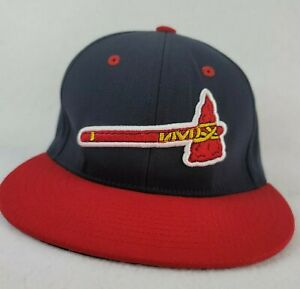 Atlanta Braves hat embroidered FLEXFIT stretch  small to medium fit 6 7/8- 7 3/8