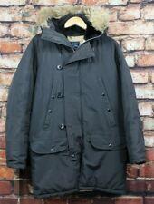 Vintage Spiewak Golden Fleece N-3B Black Down Flying Parka Coat Fur Hood Mens 34