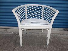 Funky Bamboo  Barrel Chair Trellis Hollywood Regency Mid-century Tube Palm Beach