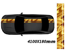 Chrome Gold Roof Hood Trunk Stripe Sticker Decal Vinyl Sport Universal #A HK K