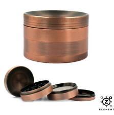 63mm Bronze Metal Aluminium Hand Grinder 4 Part Tobacco Herb Crusher Muller EU