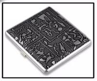 High Quality Egyptian Style Vintage Large Cigarette Case/Box Sliver