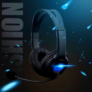 Gamer Headphones with Microphone For PS4 PC 3.5 mm Jack Wired Earphone