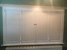 Solid Window Shutters, bi-folding, white MDF