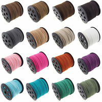 3M New 3mm Genuine leather Suede Cord Beading Thread Lace Flat Jewellery Making