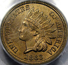 1863 CN Indian Head Cent Gem BU PCGS MS-64 and PQ...A Blazer & Well Struck, NICE