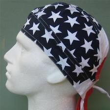 USA Stars and Stripes Ready Tie Bandana Red White Blue Du Rag Sun Hat Zandanna#1