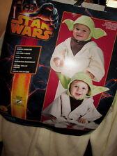 Star Wars TODDLER YODA Child COSTUME 2-4 Headpiece & Hooded Robe NEW 2pc Kids