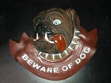 Beware of Dog Wooden Sign