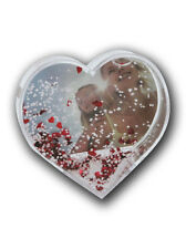 palla di neve con vostre foto forma a cuore