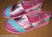 SKECHERS YOUTH GIRLS STARLIGHT LIGHT-UPS, S LIGHTS PINK SHOES SIZE 4 NWT'S