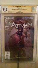 Batman #6 CGC 9.2 SIGNED by SCOTT SNYDER, GREG CAPULLO & JONATHAN GLAPION
