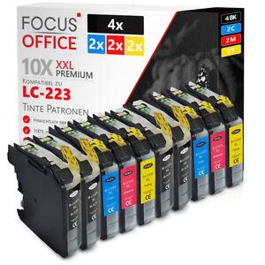10 Druckerpatronen kompatibel zu Brother LC223 LC225 MFC-J5320DW MFC-J5620DW