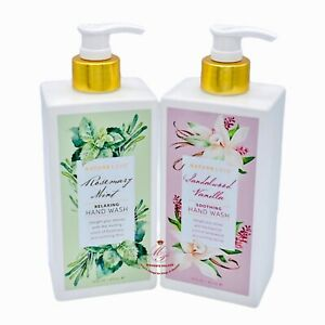 2 Nature Love ~ Rosemary Mint + Sandalwood Vanilla Relaxing Hand Wash 16 fl oz