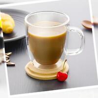 Double Wall Glass Cup Coffee Glass Tea Insulated Mug Wine Cups Beer B0A8