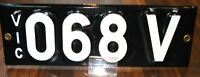 """""""068V""""  VIC. PERSONALISED REGO. SIGNATURE NUMBER PLATES"""