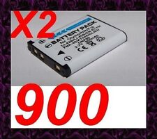 "★★★ ""900mA"" 2X BATTERIE Lithium ion ★ Pour Olympus Mju Series mju 770 SW Digital"