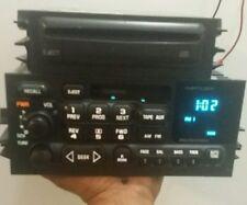 95-02 GM GMC SIERRA CHEVY TAHOE SILVERADO CASSETTE RADIO w/ CD DECK FULL LIGHTS