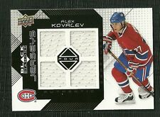 ALEX KOVALEV 08-09 UPPER DECK BLACK DIAMOND GAME WORN JERSEY MONTREAL CANADIENS