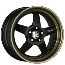 "18X8.5 +35  Klutch SL5 5X120 Black BRONZE RIMS Fit BMW Z3 Z4 X1 X3 5X4.75 2"" LIP"
