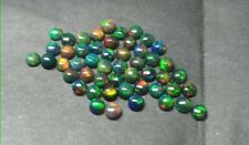 Natural Black Opal AAA Quality 3mm Round Cabochon Cut Jewellery Loose Gemstone