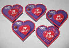 5 envases = 250 GR. milka I Love milka patés corazones OVP & top MHD Ware