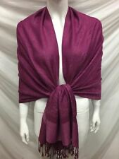 PAISLEY PASHMINA CASHMERE SCARF SHAWL WRAP STOLE PLUM ALL SEASON WEAR