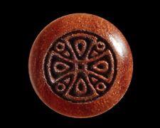 Bridge Pins for Guitar, Bolivian Rosewood, Engraved Celtic Cross