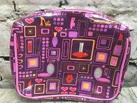 ACME Fluff Cute Pink & Purple Cosmetic Makeup Bag