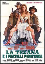 LA TEXANA E I FRATELLI PENITENZA MANIFESTO FILM RAQUEL WELCH SEXY 1971 POSTER 4F