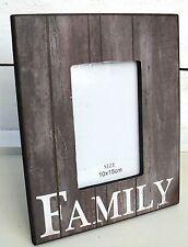 Bilderrahmen braun taupe antik Holz FAMILY Bildergr. 10 x 15 cm Shabby Stil