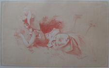 CHERET : LITHOGRAPHIE ORIGINALE , FEMMES ALLONGÉE , MAITRES DE L'AFFICHE , 1893