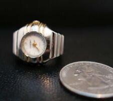 Vintage Giordano Women's Stainless Steel Ring Watch w/ Flex Band Rare !!!