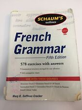 Schaums Outline of French Grammar By Crocker, Mary