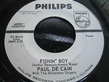Rare Teen Popcorn Oldies 45 : Paul DeCain ~ Fishin Boy ~ Philips 40057 Promo