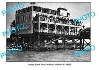 OLD 8x6 PHOTO HENLEY BEACH JETTY PAVILION ADELAIDE SOUTH AUSTRALIA c1920
