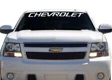 "2 Chevrolet WHITE Windshield Graphic Vinyl Decal Sticker Custom 40"" Vehicle Logo"