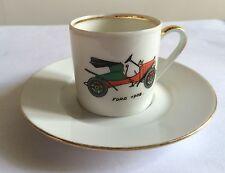 Tasse à café avec soucoupe FORD 1907. limoges