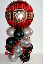 FOIL BALLOON TABLE DISPLAY  WORLD HEAVY WEIGHT WRESTLING WWE  NO  AIR FILL  B&S