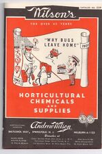 WILSON'S Andrew Wilson HORTICULTURAL CHEMICAL & SUPPLIES Springfield NEW JERSEY