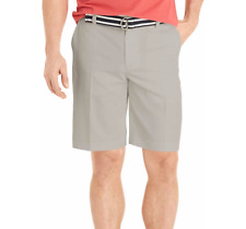 NEW IZOD HIGHRISE GRAY COOL & DRY FLAT FRONT THE DRIVER WICKING SHORTS SIZE 32